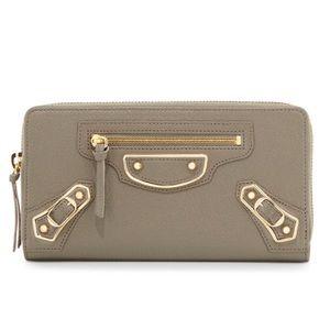 NWT 100% Authentic Balenciaga Edge Goatskin Wallet